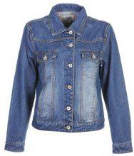 Giacca jeans con ricamo floreale sul retro