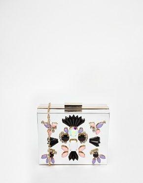 Skinnydip - Pochette rigida argento a specchio per le occasioni