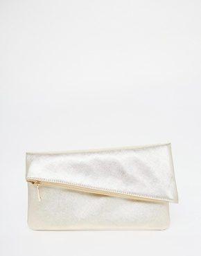 ASOS - Pochette quadrata con zip obliqua