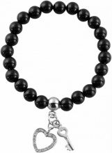 Akzent–Bracciale da donna, in acciaio inossidabile con zirconi 18cm 003695000004