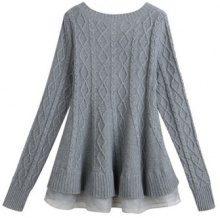 Pullover a maglia con organza