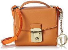 Trussardi 75b495xx53, Borsa a Tracolla Donna, Multicolore (Cuoio/Orange), 17 x 16 x 10 cm (W x H x L)