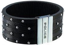 Police–Bracciale unisex Avenger Pelle pj21872blb -01, acciaio inossidabile, cod. PJ21872BLB-01-19