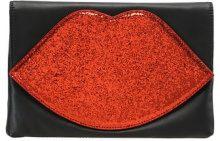 Lulu Guinness GLITTER LUNA Pochette red