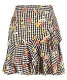 Miss Selfridge GING RUFFLE Minigonna multi brigh