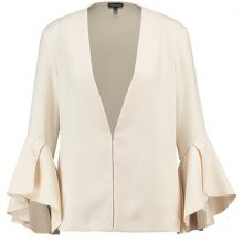 Topshop WATERFALL FRILL  Blazer nude
