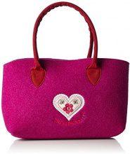 AdelheidZuckersüss Handtasche Filz - Borsa a mano donna , Rosa (Pink (pink 432)), 33x18x10 cm (B x H x T)