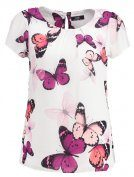 Wallis BUTTERFLY Tshirt con stampa ivory