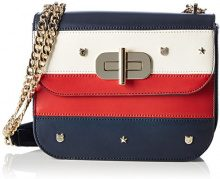 Tommy Hilfiger Turn Lock Crossover Leather Mascot - Borse a tracolla Donna, Blau (Corp Star & Mascot), 4.5x18x22 cm (B x H T)