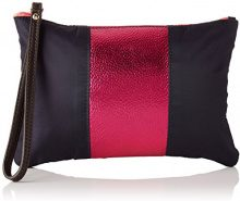 Bensimon Zipped Pocket - Pochette da giorno Donna, Multicolore (Marine/rose), 15.5x12x22 cm (W x H x L)