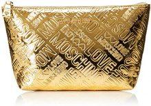 Love Moschino Bustina Embossed Patent Pu Oro - Pochette da giorno Donna, Gold, 14x24x7 cm (B x H T)