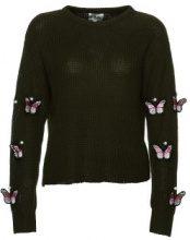 Maglione con toppe a farfalle