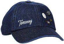 Tommy Hilfiger Patches&Pins CAP, Berretto da Baseball Donna, Blu (Denim), Taglia unica (Taglia Produttore: OS)
