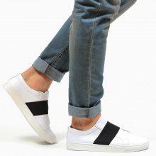 Slip on con fascia elastica a contrasto