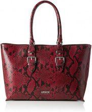Armani Jeans Borsa Shopping - Borse a spalla Donna, Rot (Burgundy), 28x10x38 cm (B x H T)