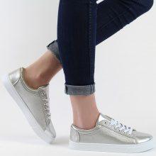 Sneakers metallizzate con motivo