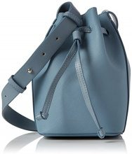 French Connection Saffiano Chelsea Mini Bucket - Borse a spalla Donna, Mehrfarbig (Arona Blu/shny Silvr), 11x14x21 cm (B x H T)