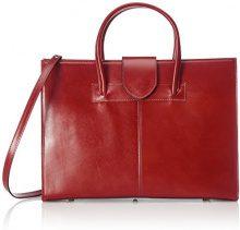 Chicca Borse 9025, Borsa a mano Donna, Rosso, 34 cm