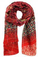 Desigual FOULARD RECTANGLE BOHO Sciarpa carmin