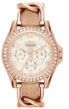 Fossil RILEY Orologio rosegoldcoloured/light brown