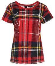 GStar X25 ROYAL TARTAN PRINT Tshirt con stampa milk/pompeian red check