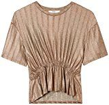 FIND Blusa a Costine Donna , Oro (Gold), 50 (Taglia Produttore: XX-Large)