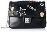 Buffalo Bag 2e109-4 Pu Kid W879-1 - Borse a tracolla Donna, Schwarz (Black 01), 5x19x26 cm (B x H T)