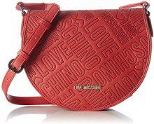 Love Moschino Borsa Embossed Pu Rosso - Borse a spalla Donna, Rot (Red), 18x23x8 cm (L x H D)