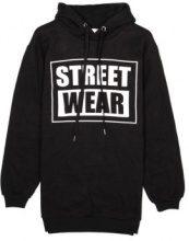 Felpa lunga con cappuccio Street Wear
