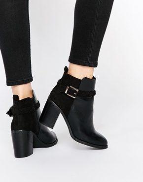 Miss KG - Swift - Stivaletti neri con tacco largo e cinturini