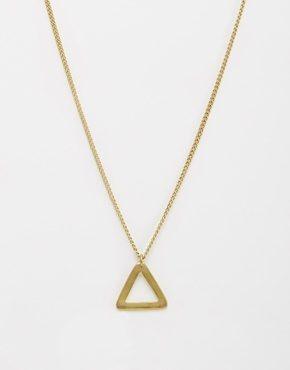 Made - Collana con triangolo in metallo