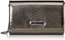 Love Moschino Moschino - Pochette da giorno Donna, Silber (Gun), 6x13x23 cm (B x H T)
