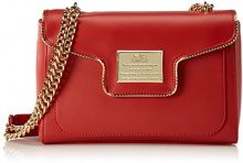 Love Moschino Borsa Calf Pu Rosso - Borse Baguette Donna, Rot (Red), 18x28x8 cm (L x H D)