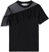 FIND T-shirt con Rouche Donna, Nero (Black), XX-Large