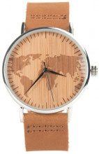 Orologio da polso in legno con mappa