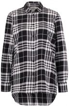 Cheap Monday BEHAVE TARTAN  Camicia black/white