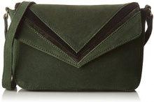 Petite Mendigote WALDO, Borsa a Tracolla Donna, Verde (Army), 6x20.5x21 cm (W x H x L)