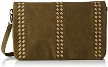 LPB WomanS17b0703 - Borsa a tracolla Donna , verde (Verde (Kaki)), 3x23x35 cm (W x H x L)