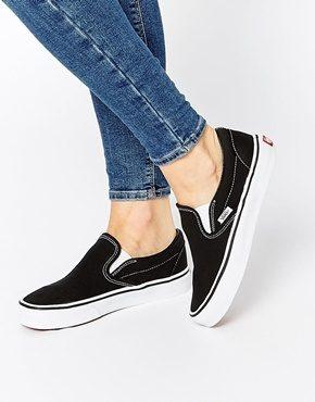 Vans - Scarpe da ginnastica nere classiche senza lacci
