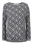 bellybutton Sweatshirt 1/1 Arm, Maglione Premaman Donna, Multicolore (Allover 0003), 40 (Taglia Produttore: XS)