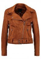 New Look BIKER Giacca in fintapelle tan