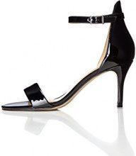 FIND Sandalo con Tacco Donna, Nero (Black), 37 EU