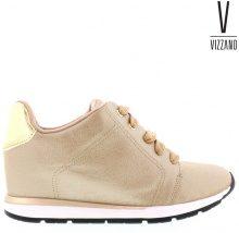 Sneakers con zeppa & dettagli metallizzati Vizzano