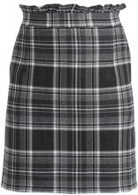 Dorothy Perkins CHECK FRILL MINI SKIRT Gonna a campana grey