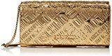 Love Moschino Borsa Embossed Patent Pu Oro - Borse a tracolla Donna, Gold, 10x21x5 cm (B x H T)