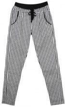 Pantaloni quadrettati in stile cuoco con coulisse