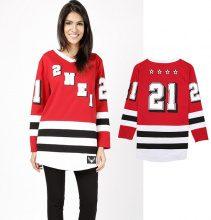 Felpa stile maglia da hockey