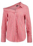 Topshop STRIPE OFF SHOULDER  Camicia red
