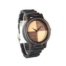 Orologio da polso in legno bicolore