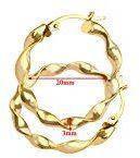 Citerna - Orecchini a cerchio da donna, oro giallo 9k (375)